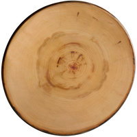 American Metalcraft MSR14 14 inch Round Melamine Serving Board / Charger - Faux Rustic Wood