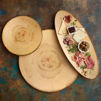 American Metalcraft MSR14 13 1/2 inch Round Rustic Melamine Serving Board