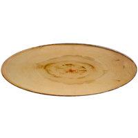 American Metalcraft MSR25 25 1/2 inch x 10 1/2 inch Rustic Wood Oval Melamine Serving Board