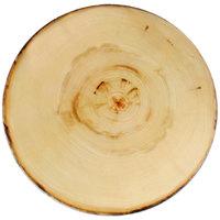 American Metalcraft MSR21 21 1/2 inch Round Melamine Serving Board - Faux Rustic Wood
