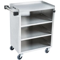 Lakeside 615 4 Shelf Standard Duty Stainless Steel Utility Cart with Enclosed Base - 16 1/2 inch x 27 3/4 inch x 32 3/4 inch