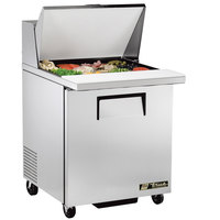 True TSSU-27-12M-B LH 27 inch Mega Top Sandwich / Salad Prep Refrigerator with Left-Hinged Door