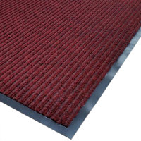 Cactus Mat 1485M-R31 3' x 10' Red Needle Rib Carpet Mat - 3/8 inch Thick