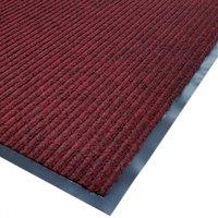 Cactus Mat 1485M-R31 3' x 10' Red Needle Rib Carpet Mat - 3/8 inch Thick