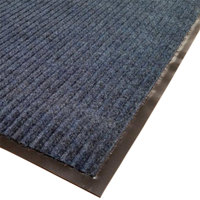 Cactus Mat 1485M-U31 3' x 10' Blue Needle Rib Carpet Mat - 3/8 inch Thick