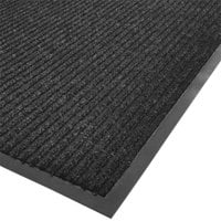 Cactus Mat 1485M-L31 3' x 10' Charcoal Needle Rib Carpet Mat - 3/8 inch Thick