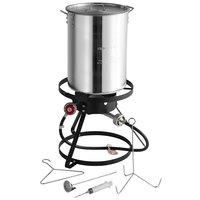 Backyard Pro BP-12KIT Weekend Series 30 Qt. Turkey Fryer Kit with Aluminum Stock Pot and Accessories - 55,000 BTU
