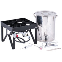 liquid propane backyard pro weekend series 30 qt turkey fryer kit with stainless steel stock pot and