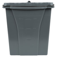 Rubbermaid 1863900 Executive WaveBrake® 18 Qt. Gray Dirty Water Mop Bucket