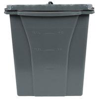 Rubbermaid 1863900 Executive WaveBrake® 18 Qt. Gray Dirty Water Mop Bucket
