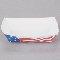Southern Champion 531 #40 6 oz. USA Flag Paper Food Tray - 250/Pack