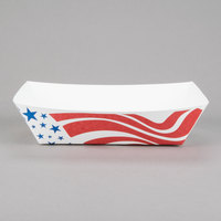 Southern Champion 537 #500 5 lb. USA Flag Paper Food Tray - 250/Pack