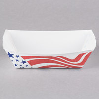 Southern Champion 0532 #50 1/2 lb. USA Flag Paper Food Tray - 250/Pack