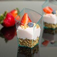 Fineline Tiny Temptations 6407-GRN 2.2 oz. Tiny Trifles Green Plastic Bowl - 10/Pack