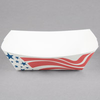 Southern Champion 0533 #100 1 lb. USA Flag Paper Food Tray - 250/Pack