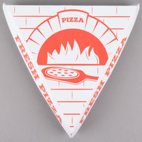 Choice White Clay Coated Clamshell Pizza Slice Box - 20/Pack