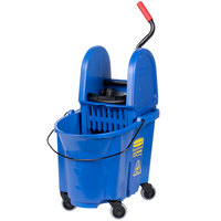 Rubbermaid FG757888BLUE WaveBrake® 35 Qt. Blue Mop Bucket with Down Press Wringer