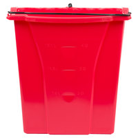 Rubbermaid FG9C7400RED WaveBrake® 18 Qt. Red Dirty Water Bucket