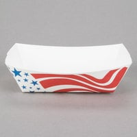 Southern Champion 534 #200 2 lb. USA Flag Paper Food Tray - 250/Pack