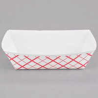 Southern Champion 421 #250 2.5 lb. Red Check Paper Food Tray - 250/Pack