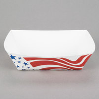 Southern Champion 536 #300 3 lb. USA Flag Paper Food Tray - 250/Pack