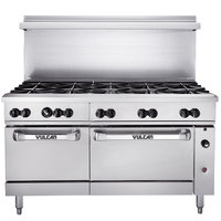 Vulcan 60SS-10BP Endurance 10 Burner 60 inch Liquid Propane Range with Standard Oven Base - 358,000 BTU