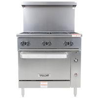 Vulcan 36S-6BN Endurance 6 Burner 36 inch Natural Gas Range with Standard Oven Base - 215,000 BTU
