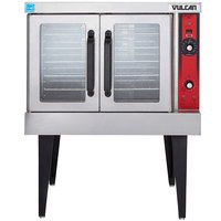 Vulcan VC4GD-1 1D150K Natural Gas Single Deck Full Size Gas Convection Oven with Solid State Controls - 50,000 BTU