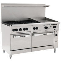 Vulcan 60SS-6B24GP Endurance Series Liquid Propane 60 inch Range with 6 Burners, 24 inch Griddle, and 2 Ovens - 278,000 BTU