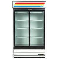 True GDM-41-HC-LD WH 47 inch White Refrigerated Sliding Glass Door Merchandiser with LED Lighting