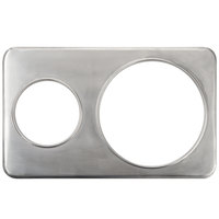 2 Hole Steam Table Adapter Plate - 6 3/8 inch and 10 3/8 inch