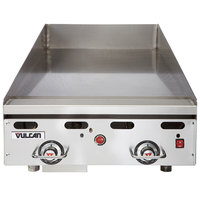 Vulcan MSA24-101 24 inch Countertop Natural Gas Griddle with Snap Action Thermostatic Controls - 54,000 BTU