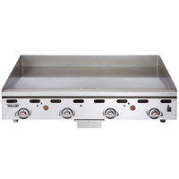 Vulcan MSA36-101 36 inch Countertop Natural Gas Griddle with Snap Action Thermostatic Controls - 81,000 BTU