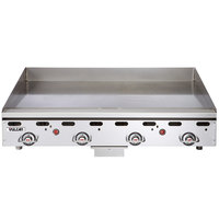 Vulcan MSA48-101 48 inch Countertop Natural Gas Griddle with Snap Action Thermostatic Controls - 108,000 BTU