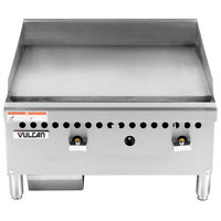 Vulcan VCRG24-M1 Natural Gas 24 inch Countertop Griddle with Manual Controls - 50,000 BTU