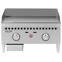 Vulcan VCRG24-T1 Natural Gas 24 inch Countertop Griddle with Snap-Action Thermostatic Controls - 50,000 BTU