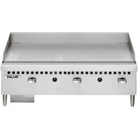 Vulcan VCRG36-M1 Natural Gas 36 inch Countertop Griddle with Manual Controls - 75,000 BTU