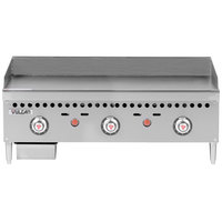 Vulcan VCRG36-T1 Natural Gas 36 inch Countertop Griddle with Snap-Action Thermostatic Controls - 75,000 BTU