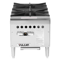 Vulcan VCRH12-1 Natural Gas 12 inch 2 Burner Countertop Range / Hot Plate - 50,000 BTU