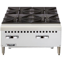 Vulcan VCRH24-1 Natural Gas 24 inch 4 Burner Countertop Range / Hot Plate - 100,000 BTU