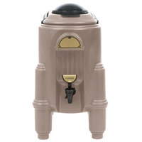 Cambro CSR3417 Camserver 3 Gallon Dark Taupe Insulated Beverage Dispenser