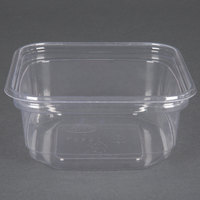 D&W Fine Pack SD12NC1 FreshServe 12 oz. Square PLA Biodegradable / Compostable Plastic Clear Deli Container - 750 / Case