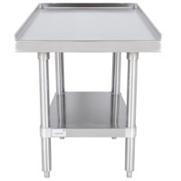 Advance Tabco ES-302 30 inch x 24 inch Stainless Steel Equipment Stand with Stainless Steel Undershelf