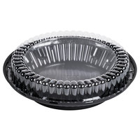 D&W Fine Pack J40-1 9 inch Black Pie Display Container with Clear Low Dome Lid   - 160/Case