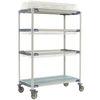 Metro PR48VX3 MetroMax i Mobile 26 inch x 50 inch Drying Rack Shelf Kit with 63 inch Posts and Casters