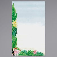 8 1/2 inch x 14 inch Menu Paper - Tropical Themed Toucan Design Left Insert - 100/Pack