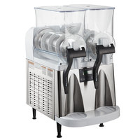 Bunn 34000.0012 Ultra-2 HP White and Stainless Steel Double 3 Gallon Pourover Slushy / Granita Frozen Drink Machine - 120V