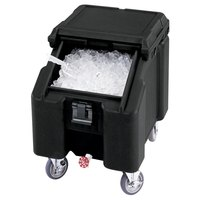 Cambro ICS100L4S110 SlidingLid Black Portable Ice Bin - 100 lb. Capacity