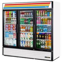 True GDM-72-LD White Glass Door Refrigerated Merchandiser with LED Lighting