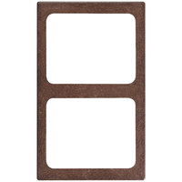 Vollrath 8244122 Miramar 2 Compartment 1/2 Size Pan Brown Granite Resin Adapter Plate